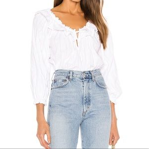 Free People Lily of the Valley Blouse in White